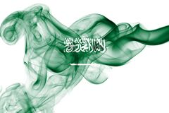 Saudi Arabia national smoke flag Stock Photography