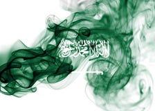 Saudi Arabia national smoke flag Royalty Free Stock Image