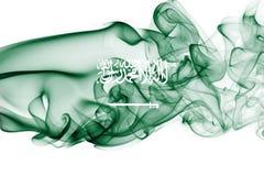 Saudi Arabia national smoke flag Royalty Free Stock Photo