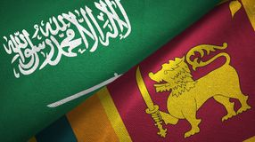 Saudi Arabia And Sri Lanka Two Flags Textile Cloth, Fabric Texture Stock  Illustration - Illustration of agreement, country: 140293924