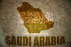 Saudi arabia vintage map Stock Images
