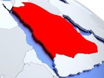 Saudi Arabia on world map Stock Photography
