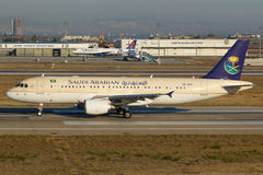 Saudi Arabian Airlines Airbus A320 Fotografia Stock