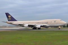 Saudi Arabian B747F Royaltyfri Fotografi