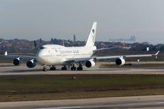Saudi Arabian Boeing 747 Royaltyfri Bild