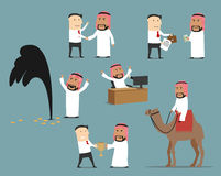 Saudi arabian businessman cartoon character set Stock Photo