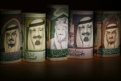 Saudi Arabian Currency Notes Royalty Free Stock Photography
