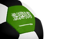 Saudi Arabian Flag - Football Royalty Free Stock Photo