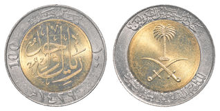 100 saudi arabian halala coin Stock Images
