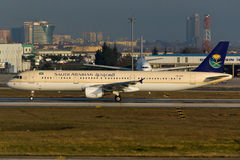 Saudi Arabian A321 Stock Photography