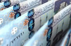 Saudi Arabian Riyals Closeup. Computer generated image Stock Photography