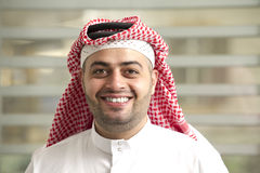Saudi Arabian young businessman standing in the office Stock Photography