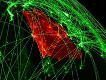 Saudi-Arabien auf grüner Kugel lizenzfreie abbildung