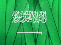 Saudi-Arabien Flagge oder Fahne stockfotos