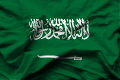 Saudi-Arabien realistische Flaggenillustration stock abbildung