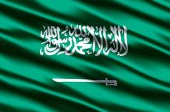 Saudi-Arabien realistische Flaggenillustration lizenzfreie abbildung
