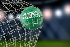 Saudi-Arabien soccerball im Netz vektor abbildung
