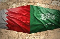 Saudi-Arabien und Bahrain stockfotos