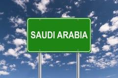 Saudi-Arabien Zeichen lizenzfreies stockbild