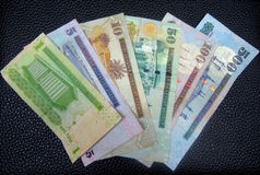 Saudi-arabische Riyals Stockfotos