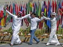 Saudi-arabische Tänzer stockbild