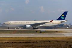 Saudi-arabischer Airbus A330 Stockfoto