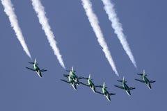 Saudi feilbietet Aerobatic Team Display Stockbild