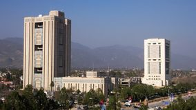 Saudi-Pak Tower. Building in Islamabad's Blue Area, housing various l businesses Royalty Free Stock Photography