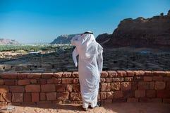 Saudian, welches die alte Stadt von Al Ula, Saudi-Arabien übersieht Lizenzfreie Stockfotografie