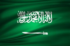 Saudiarabien flaggaillustration stock illustrationer
