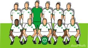Saudiarabien fotbollslag 2018 royaltyfri illustrationer