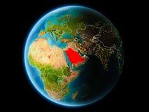 Saudiarabien i aftonen Arkivbilder