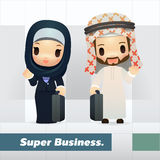 Saudier - arabisk affärsman och affärskvinna Arkivbilder
