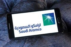 Saudieraramco-logo arkivfoto