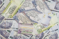 SaudierRiyalsvaluta, nya anmärkningar Arkivbild