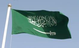 Saudische Markierungsfahne Stockfotografie