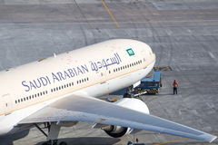 Saudyjczyk - arabski Pcha z powrotem Fotografia Stock