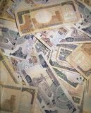 Saudyjscy Riyal banknoty 500, 200 i 100 rachunków, obrazy royalty free