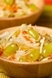 sauerkraut σαλάτας σταφυλιών στοκ εικόνες