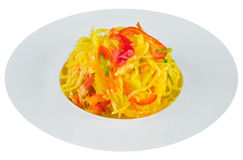 Sauerkraut στο άσπρο πιάτο Στοκ εικόνες με δικαίωμα ελεύθερης χρήσης