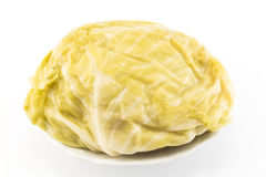 Sauerkraut στο πιάτο δεν απομόνωσε κανένα λευκό Στοκ Φωτογραφία