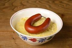 Sauerkraut с копчеными сосисками Стоковое Изображение RF