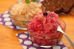 Sauerkraut 2 типов Стоковое Изображение