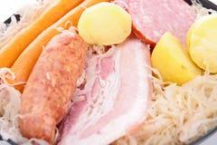 Sauerkraut. Close up on cooked sauerkraut Stock Photos