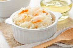 Sauerkraut. Fresh sauerkraut on the table Stock Photo