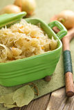 Sauerkraut. In the stew pot Royalty Free Stock Photo