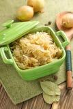Sauerkraut. In the stew pot Stock Photo