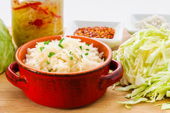 sauerkraut stockfoto