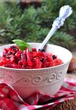 Sauerkraut with beetroot and prunes Stock Images