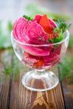Sauerkraut with beets Royalty Free Stock Photos